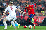 Spain's Rodrigo Moreno and Norway's Kristoffer Ajer  during the qualifying match for Euro 2020 on 23th March, 2019 in Valencia, Spain. (ALTERPHOTOS/Alconada)