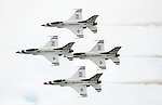 The United States Air Force Thunderbirds fly at the Wings Over Houston Air Show Sunday Oct. 22,2006.