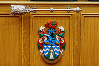 Pictured: The Mayor's Parlour. Wednesday 09 March 2018<br /> Re: The effect that the Scarlets RFC has had in the town of Llanelli in Carmarthenshire and the west Wales region.