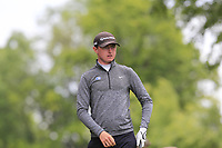 Tom Dowdall on the 18th tee during Round 4 of the Connacht Stroke Play Championship 2019 at Portumna Golf Club, Portumna, Co. Galway, Ireland. 09/06/19<br /> <br /> Picture: Thos Caffrey / Golffile<br /> <br /> All photos usage must carry mandatory copyright credit (© Golffile | Thos Caffrey)