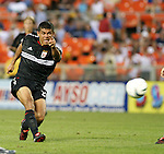 15 May 2004: Ronald Cerritos unloads a shot in the first half. DC United defeated the Kansas City Wizards 1-0 at RFK Stadium in Washington, DC during a regular season Major League Soccer game..