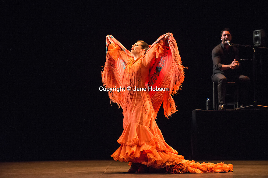 Ballet Flamenco de Andalucia presents METAFORA, at Sadler's Wells, as part of the Flamenco Festival London. Picture shows: Patricia Guerrero.