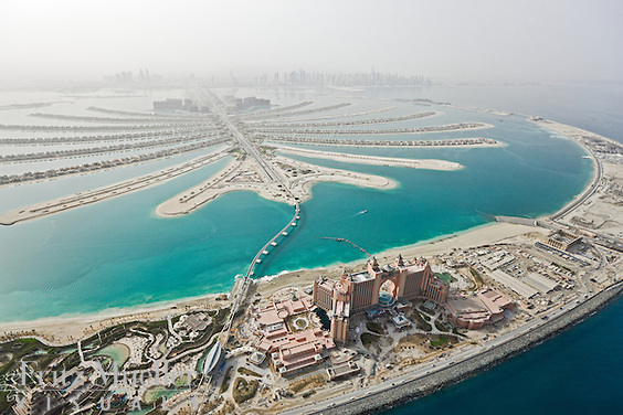 Palm Jumeirah is one of three artificial islands (Palm Jumeirah, Palm Jebel Ali and Palm Deira) that which will increase Dubai's shoreline by 520 km. Palm Jumeirah was the smallest and the first reclaimed island developed by government-owned Nakheel Properties.