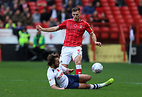 Ben Pearson of Preston North End tackles Ben Purrington of Charlton Athletic during Charlton Athletic vs Preston North End, Sky Bet EFL Championship Football at The Valley on 3rd November 2019