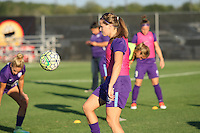 Piscataway, NJ - Wednesday Sept. 07, 2016: Maddy Evans prior to a regular season National Women's Soccer League (NWSL) match between Sky Blue FC and the Orlando Pride FC at Yurcak Field.