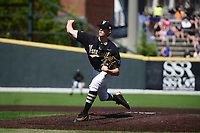 Pitcher Kyle Wright of the Vanderbilt Commodores delivers a pitch during a game against Kentucky at Hawkins Field on April 16, 2016 in Nashville, Tennessee.  (Mike Strasinger/Four Seam Images)