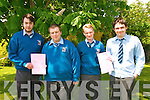 St Michael's College : Sudents from St Michael's College who started the leaving cert exams on Wednesday.  L-R: David Burns, Kieran Stack, David Harnett & Nialll Stack.