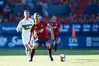 Oier Sanjurjo (defender; CA Osasuna) during the Spanish <br /> la League soccer match between CA Osasuna and Elche CF at Sadar stadium, in Pamplona, Spain, on Saturday, <br /> agost 26, 2018.
