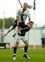 11/09/2005         Copyright Pic : James Stewart.File Name : jspa28 falkirk v rangers.FERNANDO RICKSEN GETS ABOVE DARYLL DUFFY...Payments to :.James Stewart Photo Agency 19 Carronlea Drive, Falkirk. FK2 8DN      Vat Reg No. 607 6932 25.Office     : +44 (0)1324 570906     .Mobile   : +44 (0)7721 416997.Fax         : +44 (0)1324 570906.E-mail  :  jim@jspa.co.uk.If you require further information then contact Jim Stewart on any of the numbers above.........