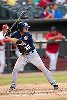 New Orleans Zephyrs third baseman Kevin Kouzmanoff (30) at bat against the Memphis Redbirds in the Pacific Coast League baseball game on June 12, 2013 at Autozone Park in Memphis, Tennessee. Memphis defeated New Orleans 9-3. (Andrew Woolley/Four Seam Images)