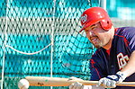 5 March 2006: Matthew LeCroy, catcher for the Washington Nationals, takes some practice buntings prior to a Spring Training game against the Baltimore Orioles. The Nationals defeated the Orioles 10-6 at Space Coast Stadium, in Viera Florida...Mandatory Photo Credit: Ed Wolfstein..