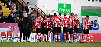 Lincoln City manager Danny Cowley speaks to his team during a break in play<br /> <br /> Photographer Chris Vaughan/CameraSport<br /> <br /> The EFL Sky Bet League Two - Lincoln City v Stevenage - Saturday 16th February 2019 - Sincil Bank - Lincoln<br /> <br /> World Copyright © 2019 CameraSport. All rights reserved. 43 Linden Ave. Countesthorpe. Leicester. England. LE8 5PG - Tel: +44 (0) 116 277 4147 - admin@camerasport.com - www.camerasport.com
