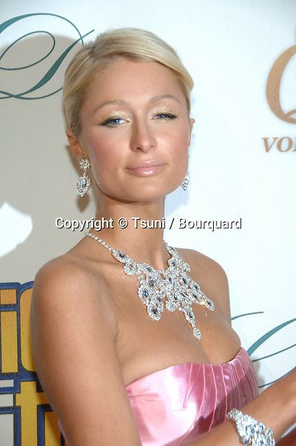 Paris Hilton arriving at The Hottie &amp; The Nottie Premiere at the Egyptian Theatre In Los Angeles.<br /> <br /> headshot<br /> eye contact