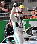 13.04.2019, Shanghai Audi International Circuit, Shanghai, 2019 FORMULA 1 HEINEKEN CHINESE GRAND PRIX<br /> im Bild<br />2. Startplatz f&uuml;r Lewis Hamilton (GB#44), Mercedes-AMG Petronas Motorsport<br /> <br /><br /> <br /> Foto &copy; nordphoto / Bratic