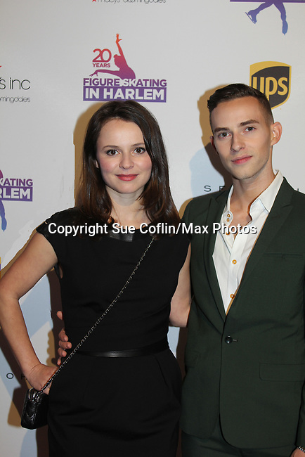 Sasha Cohen poses with Adam Rippon - Figure Skating in Harlem celebrates 20 years - Champions in Life benefit Gala on May 2, 2017 in New York City, New York.  (Photo by Sue Coflin/Max Photos)
