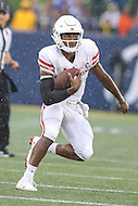 Annapolis, MD - October 8, 2016: Houston Cougars quarterback Greg Ward Jr. (1) runs the ball during game between Houston and Navy at  Navy-Marine Corps Memorial Stadium in Annapolis, MD.   (Photo by Elliott Brown/Media Images International)