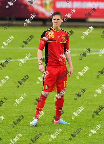 2013-05-26 / Voetbal / seizoen 2012-2013 / België U19 / Gianni de Neve..Foto: mpics