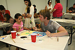 Van Hansis paints with Sierra at the 11th Annual SoapFest - Painting Party to benefit Marco Island YMCA, theatre program & Art League of Marco Island on May 2, 2009 on Marco Island, FLA. (Photo by Sue Coflin/Max Photos)