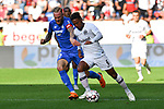 07.10.2018, wirsol Rhein-Neckar-Arena, Sinsheim, GER, 1 FBL, TSG 1899 Hoffenheim vs Eintracht Frankfurt, <br /> <br /> DFL REGULATIONS PROHIBIT ANY USE OF PHOTOGRAPHS AS IMAGE SEQUENCES AND/OR QUASI-VIDEO.<br /> <br /> im Bild: Kevin Vogt (TSG Hoffenheim #22) gegen Jonathan de Guzman (Eintracht Frankfurt #6)<br /> <br /> Foto &copy; nordphoto / Fabisch