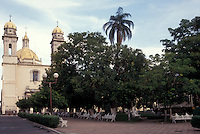 The plaza Principal and cathedral or Santa Iglesia in the city of Colima, Mexico