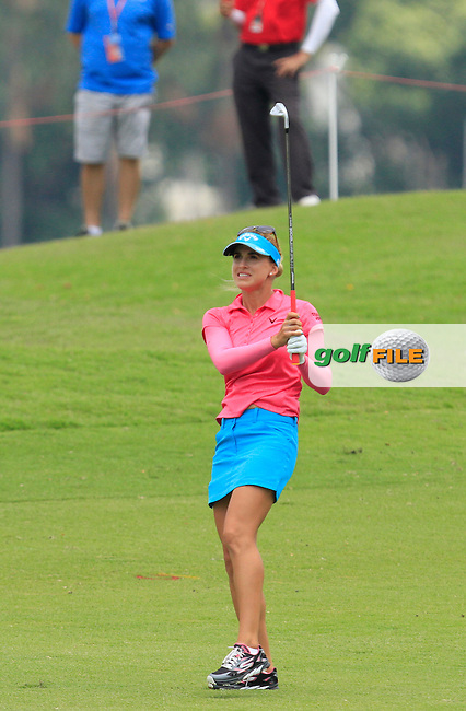 Belen Mozo (ESP) on the 16th fairway during Round 2 of the HSBC Women's Champions at the Sentosa Golf Club, The Serapong Course in Singapore on Friday 6th March 2015.<br /> Picture:  Thos Caffrey / www.golffile.ie