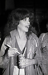 """Gilda Radner after a performance in  """"Lunch Hour"""" Directed by Mike Nichols on March 1, 1980 at the Barrymore Theatre in New York City."""