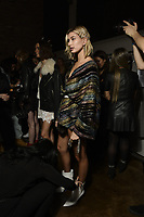 Zadig &amp; Voltaire 12/02/2018<br /> Model : Hailey Baldwin<br /> Backstage, New York Fashion Week FW18 <br /> <br /> New York Fashion Week,  New York, USA in February 2018.<br /> CAP/GOL<br /> &copy;GOL/Capital Pictures