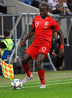 Luis Advincula (Peru) - 09.09.2018: Deutschland vs. Peru, Wirsol Arena Sinsheim, Freundschaftsspiel DISCLAIMER: DFB regulations prohibit any use of photographs as image sequences and/or quasi-video.