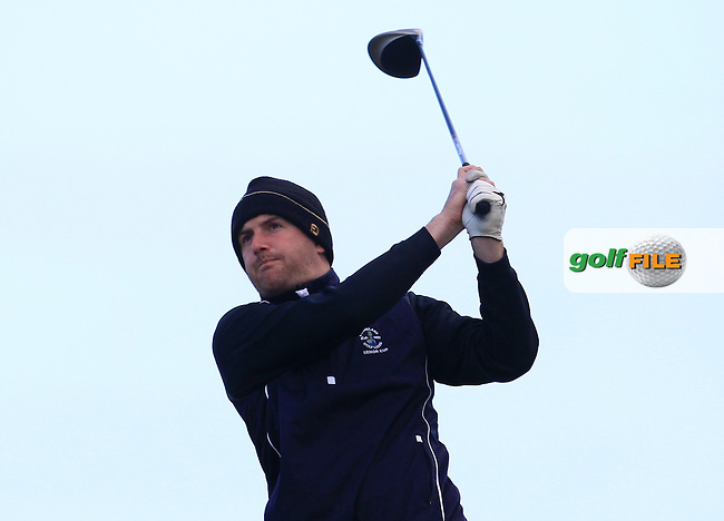 Tony O'Leary (Wexford) on the 2nd tee during Round 2 of the East of Ireland Amateur Open Championship at Co. Louth Golf Club, Baltray on Sunday 30th May 2015.<br /> Picture:  Thos Caffrey / www.golffile.ie