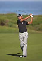 160211 Japan's Hiroshi Iwata during Thursday's First Round at The AT&T National Pro Am at The Monterey Peninsula CC in Carmel, California. (photo credit : kenneth e. dennis/kendennisphoto.com)
