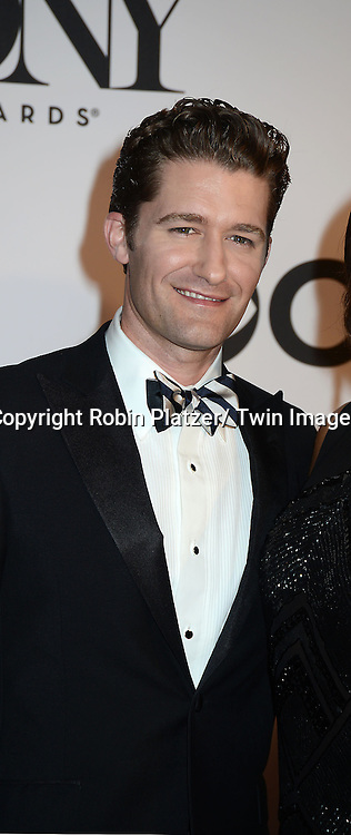 Matthew Morrison  attends the 67th Annual Tony Awards on Sunday, June 9th at Radio City Music Hall in New York City.