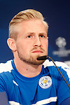 Leicester City FC's Kasper Schmeichel in press conference before training session. April 11, 2017.(ALTERPHOTOS/Acero)