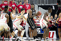 LAS VEGAS, NV - March 9, 2017: Arizona Wildcats Men's Basketball team vs. the Colorado Buffaloes.  Final Score: Arizona Wildcats 92, Colorado Buffaloes 78