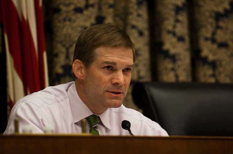 WASHINGTON, DC - April 20: Ranking member Jim Jordan, R-Ohio, during the House Oversight and Government Reform Subcommittee on Domestic Policy hearig on federal loan guarantees for nuclear power plants. (Photo by Scott J. Ferrell/Congressional Quarterly)