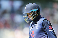 England's Joe Root departs. New Zealand Blackcaps v England. One Day International Cricket. Seddon Park, Hamilton, New Zealand on Sunday 25 February 2018.<br /> <br /> Copyright photo: &copy; Bruce Lim / www.photosport.nz
