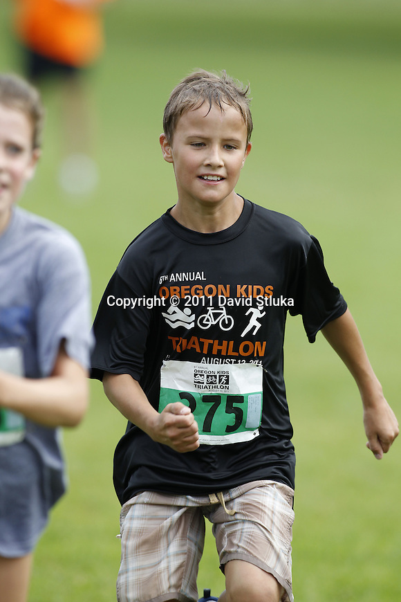 The 2011Oregon Kids Triathlon in Oregon, Wisconsin. (Photo by David Stluka)