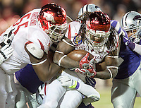 NWA Democrat-Gazette/JASON IVESTER <br /> Arkansas vs Kansas St, Liberty Bowl<br /> Arkansas running back Alex Collins (3) carries the ball during the fourth quarter on Saturday, Jan. 2, 2016, at the Liberty Bowl in Memphis, Tenn.