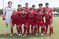 LAKEWOOD RANCH, FL - December 4, 2017: U-16/17 FC Dallas vs. New York City FC. The 2017 Development Academy Winter Showcase at Premier Sports Campus.
