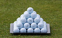 Titleist Practice golf ball sit on display during the GOLFSIXES ProAm  at Centurion Club, St Albans, England on 5 May 2017. Photo by Andy Rowland.