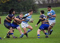 Action from the Wellington secondary schools Williment Cup traditional rugby match between St Patrick's Silverstream College and Rongotai College at St Pat's Silverstream College in Wellington, New Zealand on Wednesday, 13 June 2018. Photo: Dave Lintott / lintottphoto.co.nz