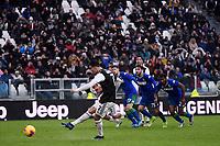 Cristiano Ronaldo of Juventus scores a goal on penalty <br /> Torino 1-12-2019 Juventus Stadium <br /> Football Serie A 2019/2020 <br /> Juventus FC - US Sassuolo 2-2 <br /> Photo Federico Tardito / Insidefoto