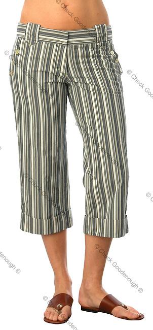 Stock photo of a pair of women's capri pants