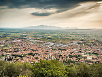 Town of Monsummano Terme from the hilltop above, Tuscano, Italy