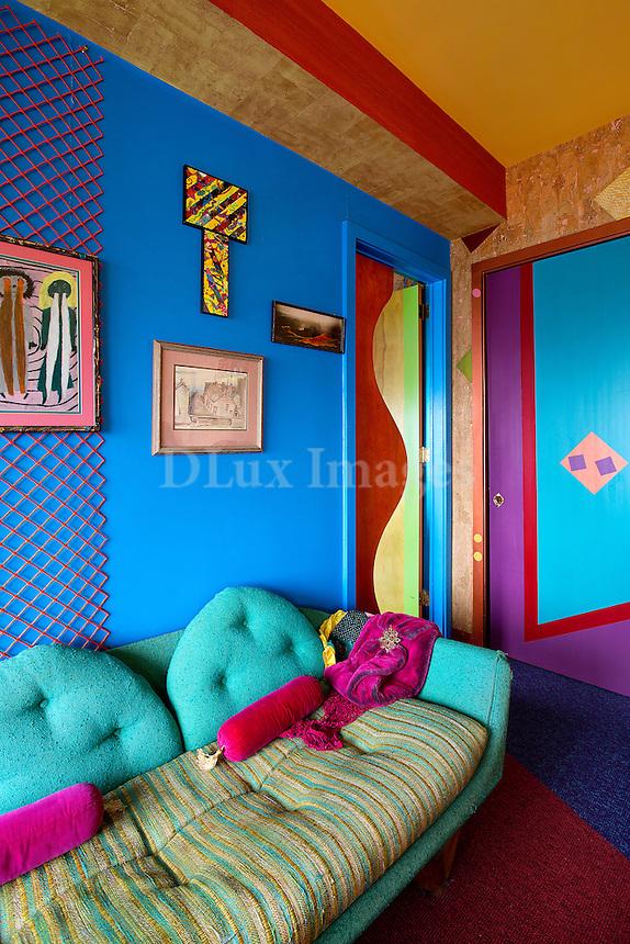 funky colorful sofa