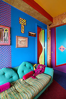 funky colorful sofa
