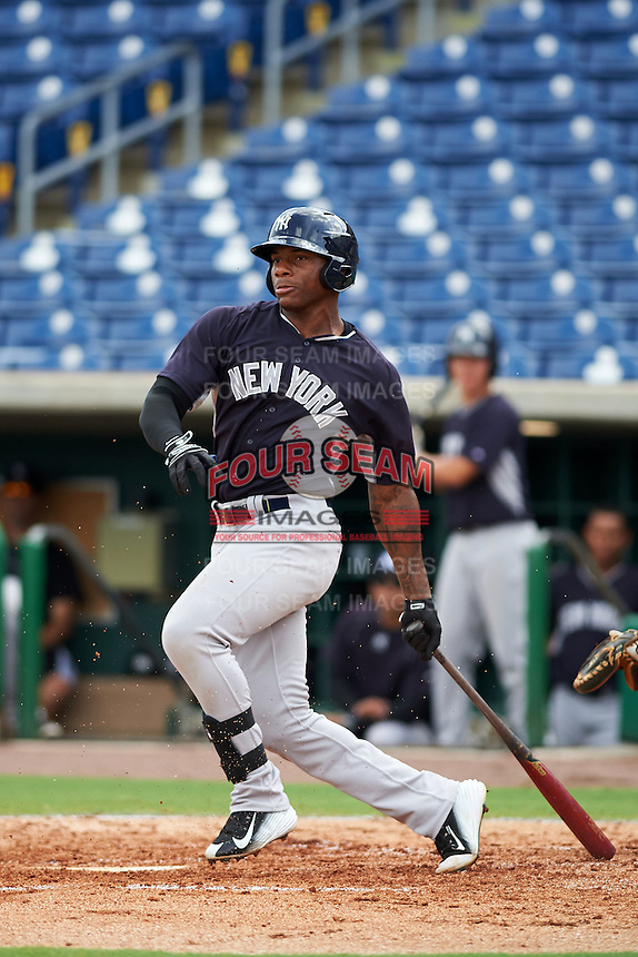 New York Yankees Jhalan Jackson (84) during an instructional league game against the Philadelphia Phillies on September 29, 2015 at Brighthouse Field in Clearwater, Florida.  (Mike Janes/Four Seam Images)
