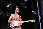 Stephen Lovekin of Young the Giant performs during the Hangout Music Fest in Gulf Shores, Alabama on May 20, 2012.