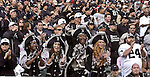 "Raider fans, the ""Oaktown Pirates"", Melvia Grasty, Kimmy Grasty, Azel Grasty, and April Pearcy cheer for their team on Saturday, August 24, 2002, in Oakland, California. The Raiders defeated the 49ers 17-10 in a preseason game."