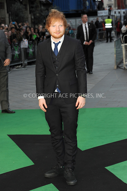 WWW.ACEPIXS.COM<br /> <br /> October 22 2015, New York City<br /> <br /> Ed Sheeran attends the World Premiere of 'Jumpers For Goalposts' at Odeon Leicester Square on October 22, 2015 in London, England.<br /> <br /> By Line: Famous/ACE Pictures<br /> <br /> <br /> ACE Pictures, Inc.<br /> tel: 646 769 0430<br /> Email: info@acepixs.com<br /> www.acepixs.com
