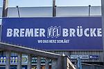 22.03.2020, Stadion an der Bremer Brücke, Osnabrück, Rund um das Stadion an der Bremer Brücke<br /> <br /> <br /> im Bild<br /> Schild Bremer Brücke vor der Westkurve. Feature / Symbol / Symbolfoto / charakteristisch / Detail<br /> <br /> Foto © nordphoto / Paetzel